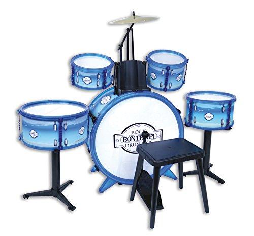 Bontempi–51–4831–Batería Rock Drummer 5Fûts, 514831, Color Blanco Azul