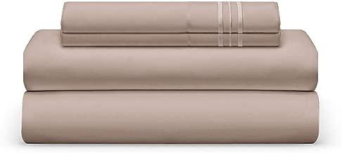 THE BEDSHEET CLUB King Bed Sheet Set - Taupe Luxury Sheet Set - Super Soft Hotel Bedding Deep Pocket - Cool & Wrinkle Free - Crème Brûlée King Bedding - 4 Pieces