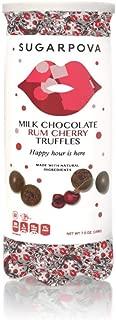 Sugarpova Milk Chocolate with Rum Cherry Truffles Tennis Can, 7 oz