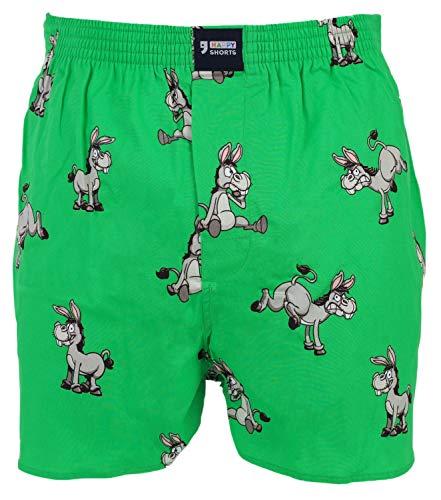 Happy Shorts Webboxer Herren Boxer Motiv Boxershorts Farbwahl, Design 8, S - 4 - 48