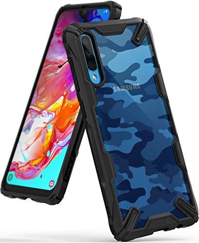 Ringke Fusion-X Diseñado para Funda Samsung Galaxy A70, Transparente al Dorso Funda, Protección Resistente Impactos TPU + PC Carcasa Galaxy A70 (6.7