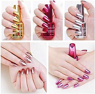 GOUWEI Titanium Nail Polish Durable Flow of Gold Non-peelable Metal Nail Art Quick Drying Nails Gel Polish Women Beauty 12...