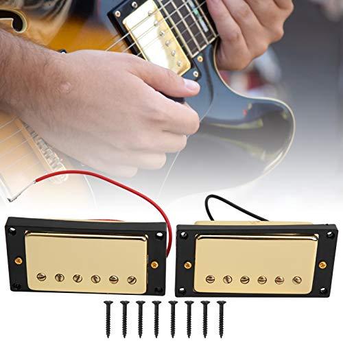 mit 8 Schrauben Schwarz Gelb Bridge Pickups Gitarren Pickup Set, für Gitarristen, für LP E-Gitarre(Black frame)