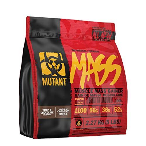 MUTANT MASS – Polvere proteica per l'aumento del peso, a base di proteine del siero del latte e caseina, frappè e bevande altamente caloriche (triplo cioccolato, 2.27kg)