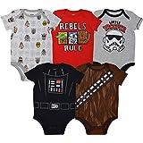 Star Wars Baby Boys 5 Pack Bodysuits Darth...