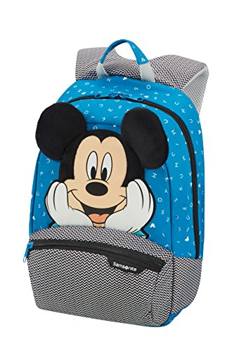 Samsonite Disney Ultimate 2.0 - Kinderrucksack S+, 35 cm, 11.5 L, Blau (Mickey Letters)