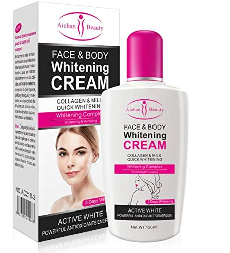 AICHUN BEAUTY KOSMECA Aichun Body Cream For Dark Skin Bleaching Brightening Body Lotion Private Parts Formula facial care tool(120ml)