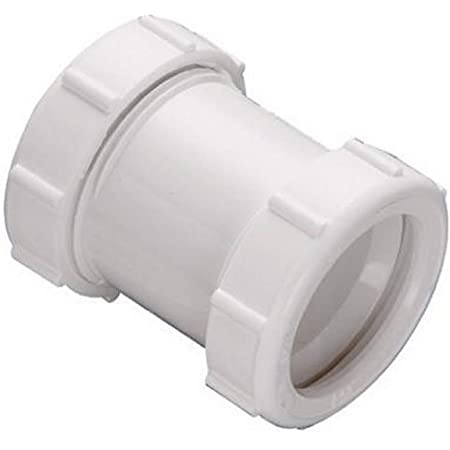keeney 46wk 1 1 2 inch or 1 1 4 inch by 1 1 2 inch straight extension coupling trap adapter white