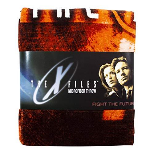X Files Merchandise | X-Files Logo Lightweight Fleece Blanket | 50 x 60 Inches