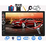 Double Din Car Stereo-7 Inch Touchscreen Car Audio,Double Din Radio Compatible with BT TF USB MP5/4/3 Player FM,Car Radio Support Backup Rear View Camera, Mirror Link ,Caller ID, Car Audio Receivers
