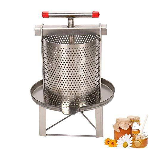 Estrattore di cera d'api in acciaio inox con filtro per miele, frutta, drenaggio della pressione dell'olio