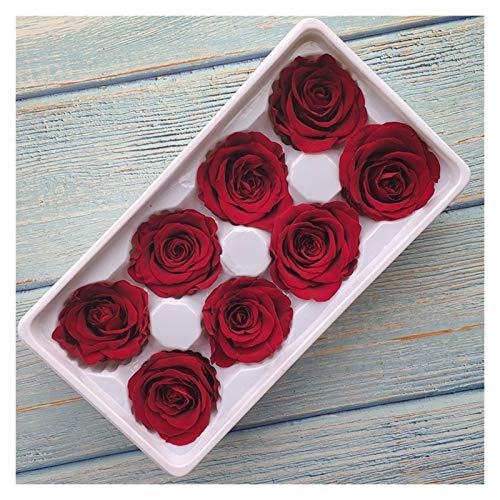 JSJJQAZ Flor Artificial Caja de Rosa Rose Rose Flor de Rosa Material DIY Material Venta al por Mayor Decoraciones de Flores Eternal Flowers (Color : Burgundy)
