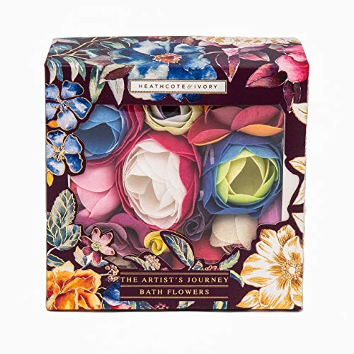 Heathcote & Ivory The Artist's Journey Romantic Bath Flowers in Geschenkbox, 70 g