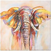 キャンバスにモダンな抽象絵画プリント壁アートポスターリビングルーム用の装飾的な水彩象の写真70x70cmフレームなし