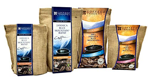 Jamaica Blue Mountain Coffee Certified 100% Pure, Roasted Ground 1 Lb