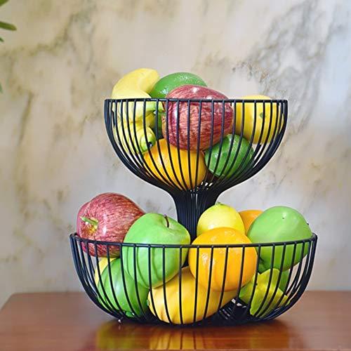 QTQHOME 2 Durable Frutero,Cocina Sarah Estante del almacenaje Orar Iglesias y los budistas Tabla La Torta Fruta Comida Soporte de la exhibición del Metálico 100% Pintar-E 27x35cm(11x14inch)