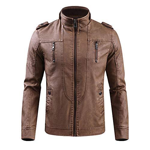 YJWSPD Baumwolle Stand warme Winter dicken Mantel, Jacke groß retro-brown_M
