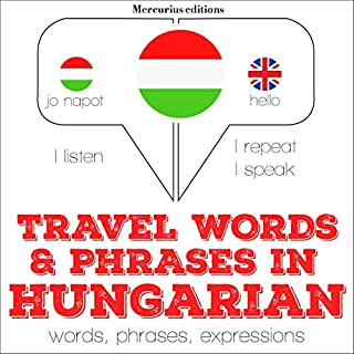 Travel words and phrases in Hungarian cover art