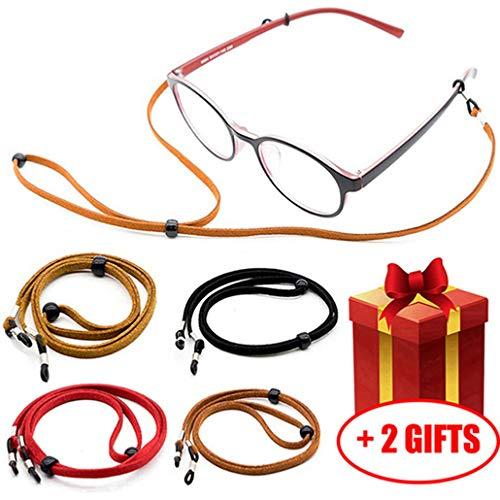 Glasses Strap Chain for Men Women [Pack of 4], Adjustable Eyeglass Holder String for Sports Reading, Never Lose Eyeglasses Again