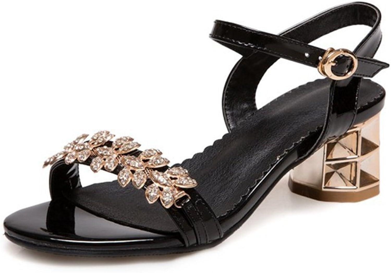 GIY Women's Sparkly Rhinestone Wedding Party High Heel Sandals Open Toe Glitter Pump Dress Sandals