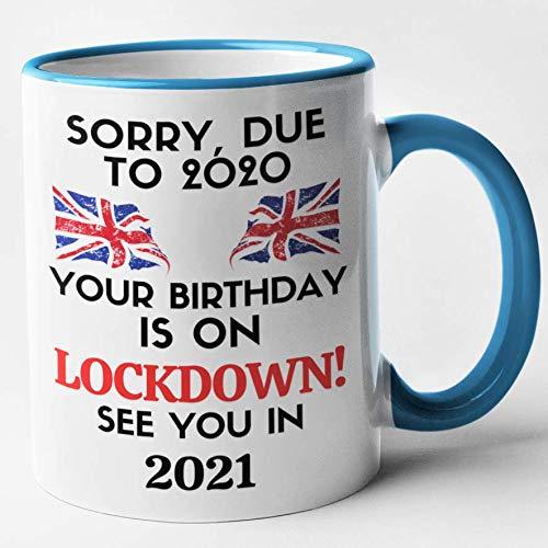 Covid 19 Virus Isolating Birthday Mug divertente novità divertente regalo divertente amici, Blu, 11