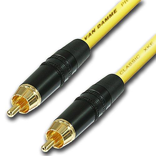 Design-acable cinch-kabel, verguld van-damkwaliteit, niet-symmetrische instrumentenkabel 10 m geel