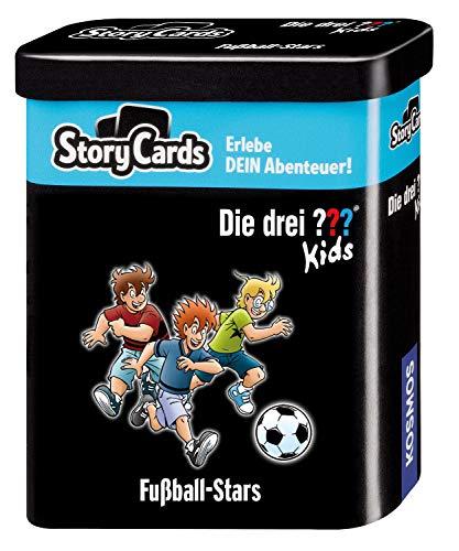 KOSMOS 688622 Story Cards - Die drei ??? Kids Fußball-Stars, Erlebe dein Abenteuer, Krimi Kartenspiel für Kinder