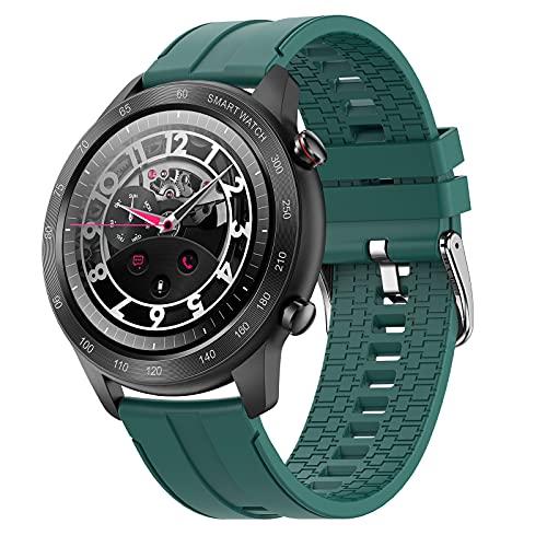 FMSBSC Smart Watch, Reloj Inteligente A Prueba de Agua IP68 para Hombres con Ritmo Cardíaco, Caloría, Monitor de presión Arterial/oxígeno en Sangre/sueño, Pulsera de Actividad iOS Android,Verde