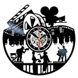 Movie Clock - Vinyl Record Wall Art - Cinema Home Decor - Film Director Gifts