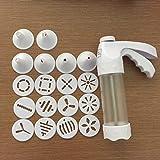 Lorsoul Cookies Mold Kit, Cookie Maker Extruder Pump Press Biscuit, der Maschine, Keks Schablone, Kuchen,