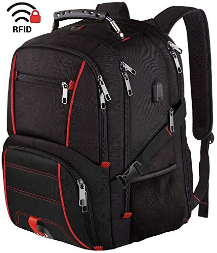Travel Laptop Backpack, Extra Large College School Backpack for Men Women with USB Charging Port, TSA Friendly Heavy Duty Big Business Computer Backpacks Bag Fit 17 Inch Laptops, RFID Durable Bookbag