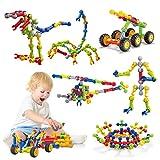 Caferria Kids Building Kit STEM Toys, 110 Pcs Educational Construction Engineering Building Blocks...