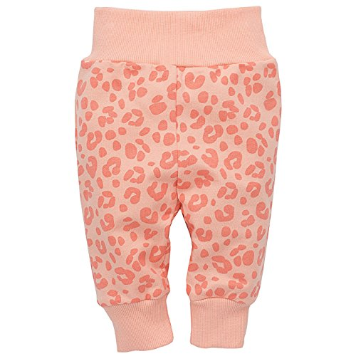 Pinokio - Sweet Panther - Baby Hose 100% Baumwolle, Lachs Korall Rosa Apricot Leo Muster Leopard- Jogginghose, Schlafhose, Leggins -...