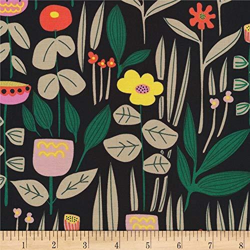 Cloud 9 Fabrics Organic Wild Maru Black Fabric by the Yard