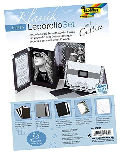 folia 11201 - Leporello Set mit Cutties Klassik, 38 Teile - ideal zum Gestalten von hochwertigen Glückwunsch- oder Einladungskarten