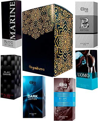 Set 6 seis Perfumes Para Hombre 15ml Cada uno Caja