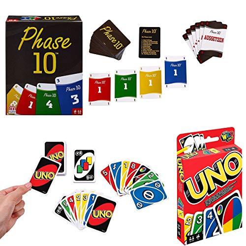 Mattel Games FPW38 - Phase 10 Kartenspiel W2087 - UNO Kartenspiel