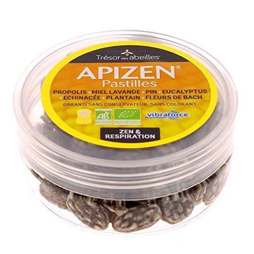 apizen Pastilles miel y propóleos aceites esenciales y extracto de Plantain y echinacée + flores de Bach–criadas + efficaces para los colmillos del organismo y la garganta