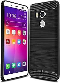 كفر حماية كاربون فايبر مخطط مرن لون أسود لجوال إتش تي سي يو11 بلس  HTC U11 PLUS