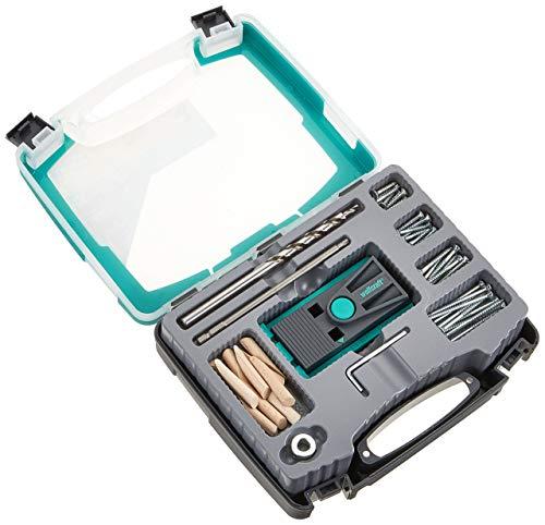 wolfcraft Undercover Jig-Set TX 4642100 – Zuverlässige Bohrhilfe mit Schrauben und Dübeln – Für Holzverbindungen und das Bohren von Taschenlöchern