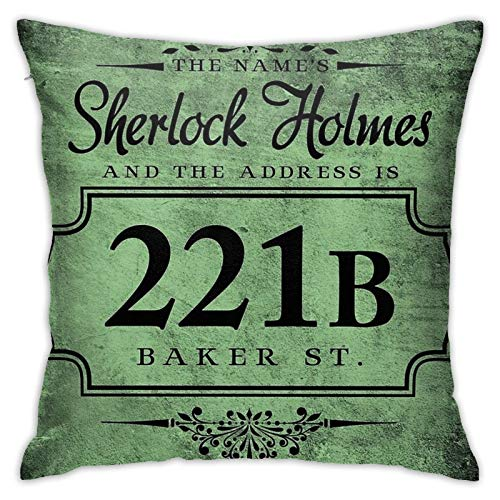 The Name's Sherlock Holmes Bedroom Couch Sofa Throw Pillow Covers Home Decorative Square Pillow Case 18x18 Inch