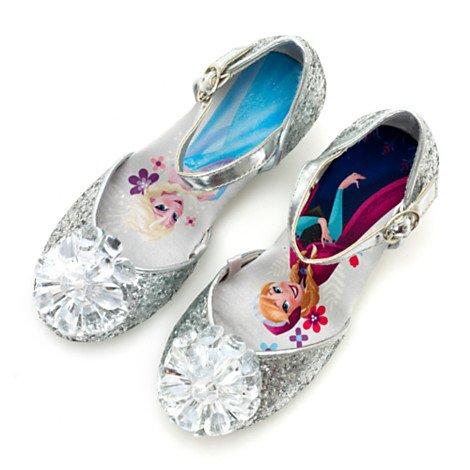 Chaussures à paillettes argentée Elsa Anna de La Reine des Neiges pour enfants - taille UK 12 ---- EU 31