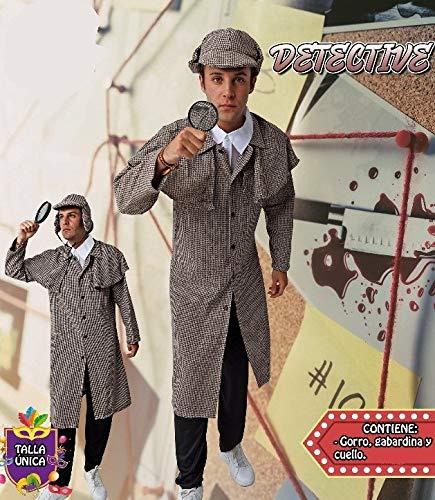 Verwen jezelf. Detective kostuum voor volwassenen, speciaal voor kostuumfeesten en carnaval, eenheidsmaat, Eén maat