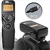 Pixel TW-283/DC2 LCD Wireless Shutter Release Timer Remote Control for Nikon Z6 Z7 D3100 D3200 D3300 D5000 D5100 D5200 D5300 D5500 D90 D7000 D7100 D7200 D600 D610 D750