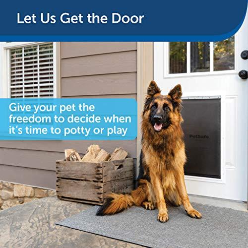 PetSafe Extreme Weather Dog and Cat Door - Aluminum Frame Pet Door - X-Large Arizona
