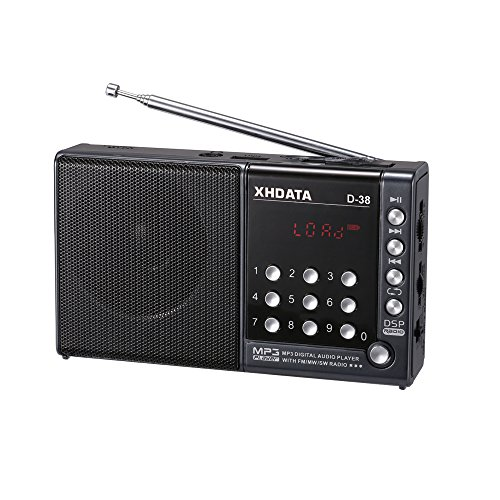 XHDATA D-38 FM-Stereo/MW / SW / MP3-Player/DSP Vollband Radio D38 (Gray)