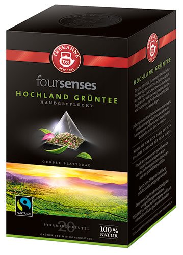 Fairtrade Teekanne - foursenses Hochland Grüntee