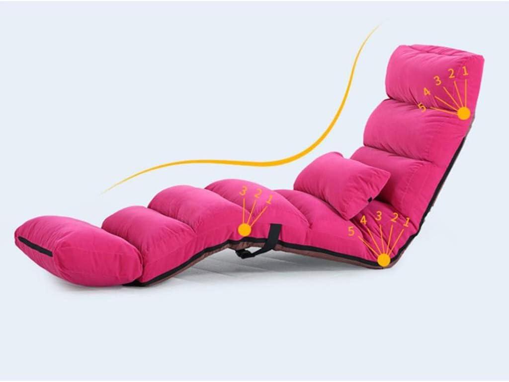 Chaise de Plancher Canapé-lit de salon pliant, 5 positions, fauteuil confortable à dossier haut, siège confortable en éponge, structure en acier (Color : E) C