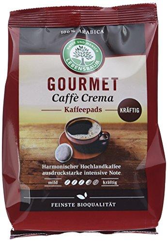 Lebensbaum Gourmet Caffè Crema Pads, kräftig, 5er Pack (5 x 126 g)
