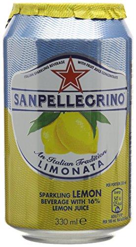 San Pellegrino Glitzernd Limonata Zitrone Dosen 24 x 330ml - Ex Steuernummer